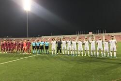 دیدار تیم فوتبال امید ایران و امید قطر