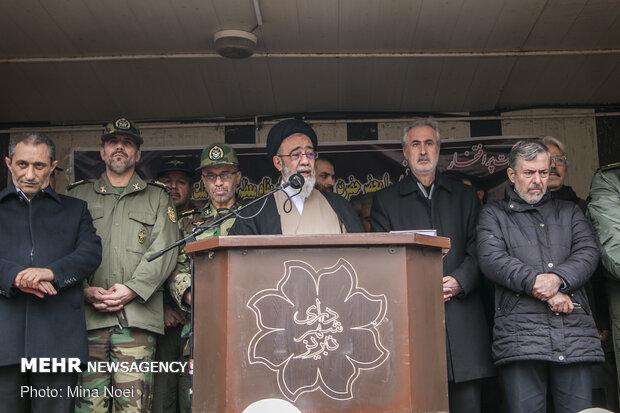 تشییع پیکر شهید محمدرضا رحمانی خلبان هواپیمای میگ ۲۹ ارتش در تبریز