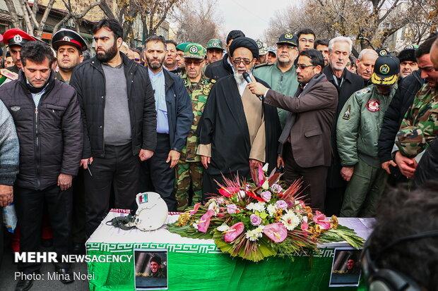تشییع پیکر شهید محمدرضا رحمانی خلبان هواپیمای میگ ۲۹ ارتش درتبریز