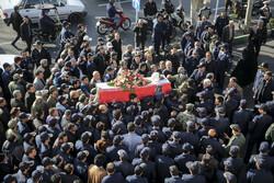 تہران میں ایرانی پائلٹ شہید محمد رضا رحمانی کی تشییع جنازہ