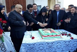 FM spox Mousavi meets Archbishop Sargsyan in Tehran