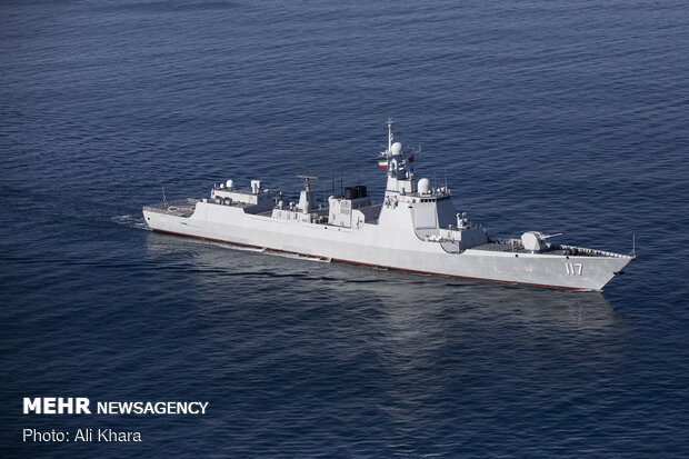 Trilateral Chinese-Iranian-Russian naval drill 3rd day