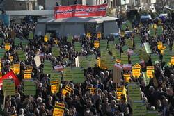 Tahran halkından 30 Aralık 2009 merasimine yoğun katılım