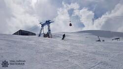 Ski in Iran above the Alborz mountains