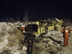 At least 9 dead in bus crash near Zanjan