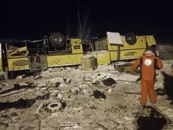 İran'da otobüs devrildi: 19 ölü