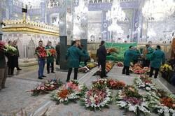 حضرت زینب (س) کے حرم کی پھولوں سے سجاوٹ