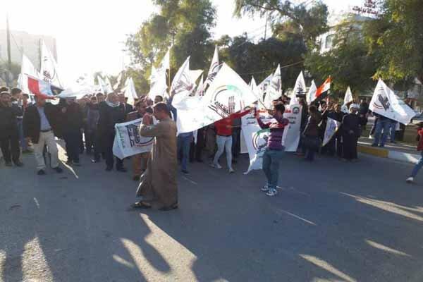 برگزاری تظاهرات ضد آمریکایی در کربلا