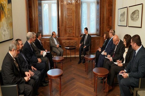 Iranian diplomat discusses Syrian developments with President Assad