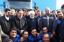 Rouhani inaugurates truck manufacturing plant in Meshginshahr