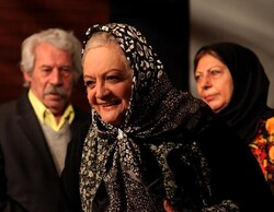 Actress Shahla Riahi attends the Iran Film Media Celebration at the Iranian Artists Forum in Tehran on January 30, 2011.