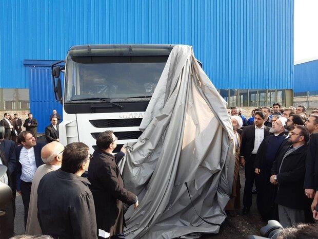 کامیون ایرانی با برند «چاپار» در مشگین شهر رونمایی شد