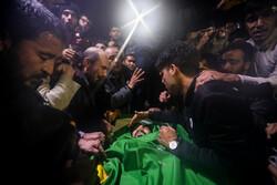 مراسم وداع با شهید مدافع حرم «محمدجعفر حسینی»
