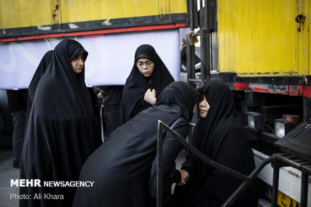 مراسم تشییع شهید مدافع حرم «محمدجعفر حسینی»
