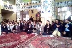 Tebriz kentinde Şehit Kasım Süleymani için matem töreni