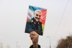 People in Qom hold anti-US rally over Gen. Soleimani martyrdom