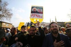 راهپیمایی مردم لواسان و ورامین در پی شهادت سردار سلیمانی