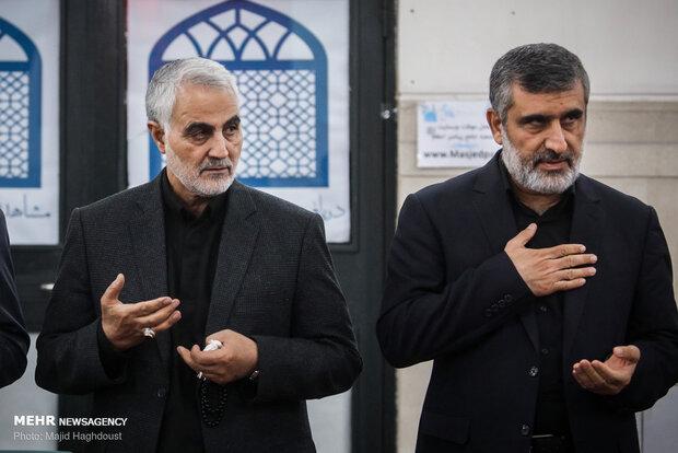 سپهبد شهید حاج قاسم سلیمانی و شهید ابومهدی المهندس