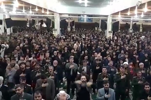 عزاداری مردم بوشهر در مراسم شهادت حاج قاسم سلیمانی