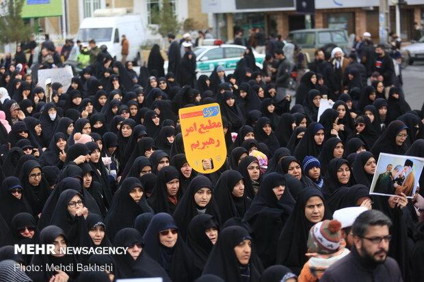 راهپیمایی مردم قم در پی شهادت سردار سپهبد حاج قاسم سلیمانی