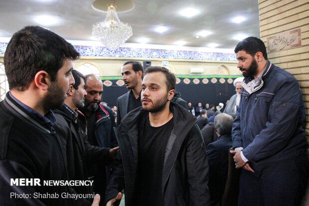 فرزند شهید سردار سپهبد قاسم سلیمانی در مسجد امیرالمؤمنین شهرک دقایقی