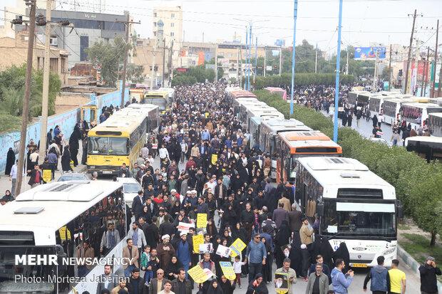 راهپیمایی مردم اهواز در پی شهادت سردار سپهبد حاج قاسم سلیمانی