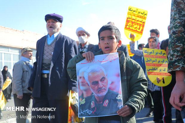 راهپیمایی مردم بیرجند در پی شهادت سردار سپهبد حاج قاسم سلیمانی