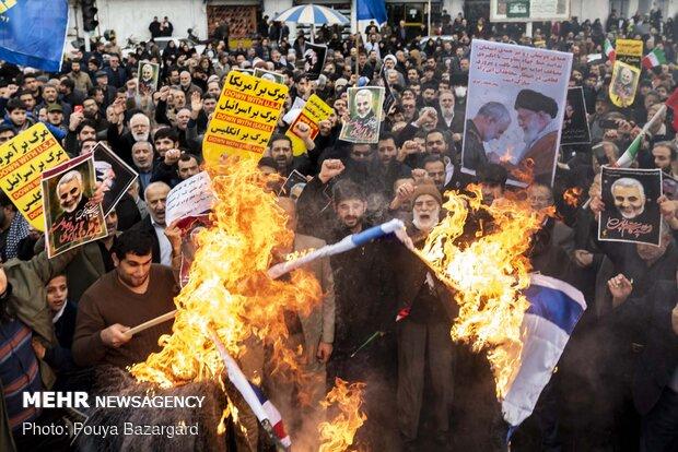 راهپیمایی مردم رشت در پی شهادت سردار سپهبد حاج قاسم سلیمانی