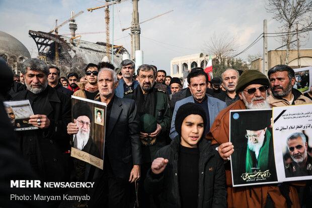 راهپیمایی مردم تهران در پی شهادت سردار سپهبد حاج قاسم سلیمانی