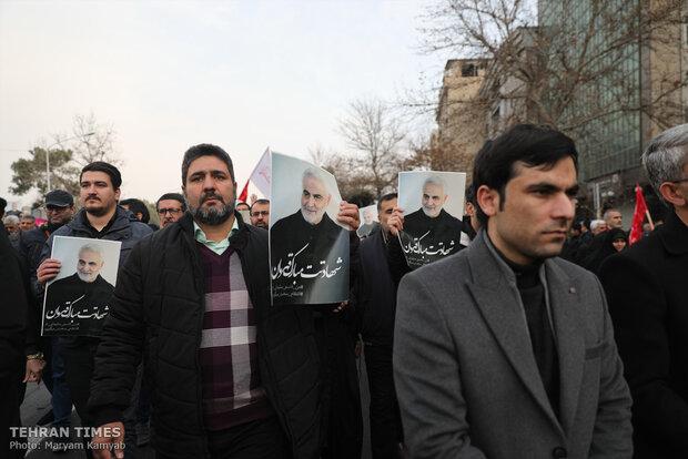 People condemn Soleimani assassination in Tehran