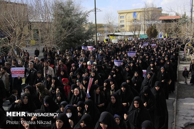 راهپیمایی مردم شهرکرد در پی شهادت سردار سپهبد حاج قاسم سلیمانی