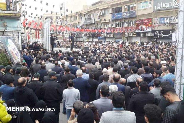 تجمع باشکوه مردم اهواز در مراسم بزرگداشت شهید سلیمانی