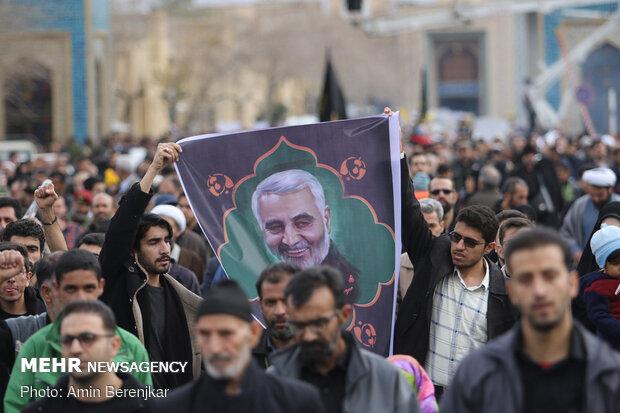 راهپیمایی مردم شیراز در محکومیت ترور شهید حاج قاسم سلیمانی