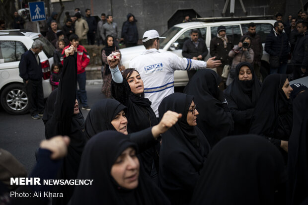 تجمع مقابل دفتر سازمان ملل در تهران