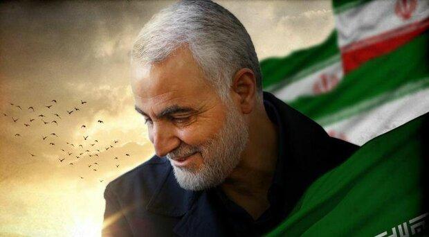 شهید سردار حاج قاسم سلیمانی چهره بین المللی مقاومت شد