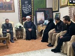 الرئيس روحاني يزور منزل الشهيد الفريق قاسم سليماني