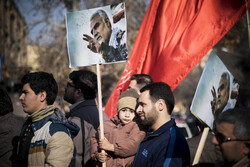 People in Shahroud hold anti-US rally over Gen. Soleimani assassination