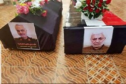 مشاركة مسؤولين عراقيين في مراسم تشييع جثامين قاسم سليماني و ابو مهدي المهندس