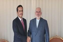 Iranian FM, Qatari counterpart meet in Tehran