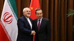 ظريف يتباحث مع نظيره الصيني حول الاتفاق النووي