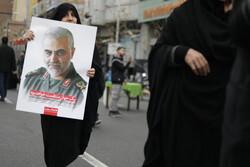 İran'da Tümgeneral Süleymani'yi anma töreni