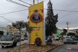 تصاویر شهید سپهبد قاسم سلیمانی زینت بخش خیابان های جنوب لبنان