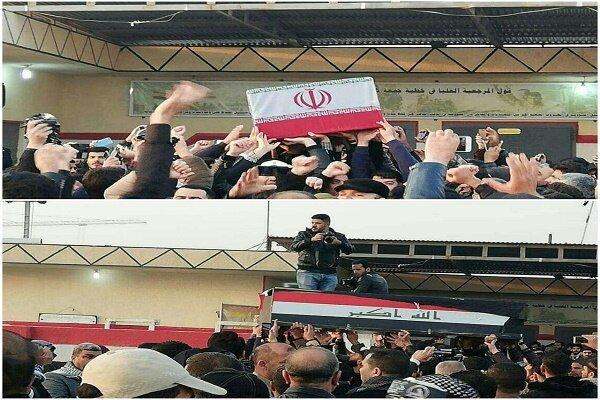 Funeral processions of Gen. Soleimani, al-Muhandis begin in Kazemein
