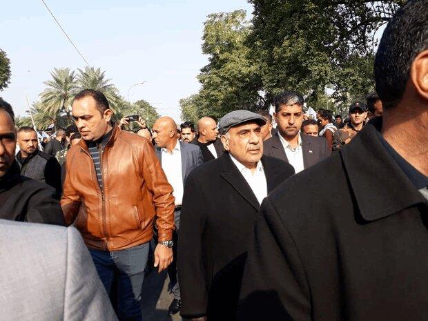 Abdul Mahdi joins mourners of martyred IRGC Quds chief, PMU deputy
