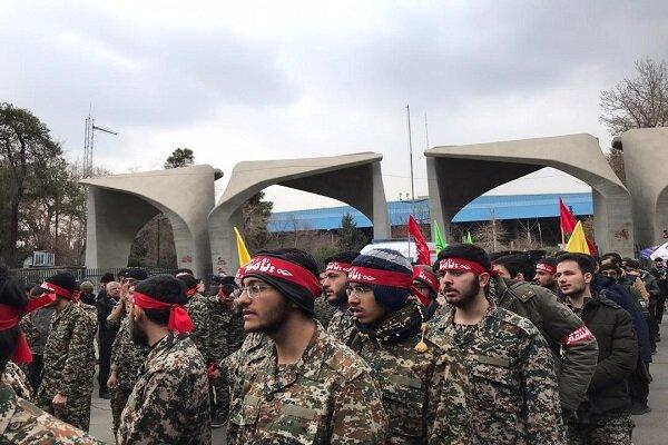اعلام آمادگی دانشجویان دانشگاه تهران برای «انتقام سخت» از آمریکا