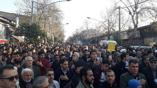 تجمع خودجوش مردمی «دلبستگان مقاومت» در گرگان برگزار شد