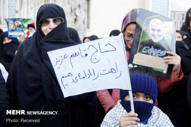 تجمع بزرگداشت شهید سپهبد قاسم سلیمانی در گرگان
