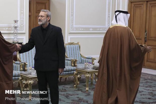 دیدار وزیر امور خارجه قطر با رییس مجلس