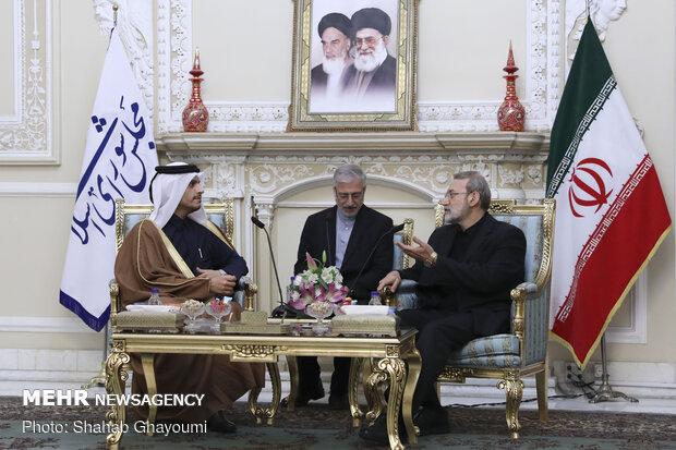 لاريجاني يستقبل وزير الخارجية القطري