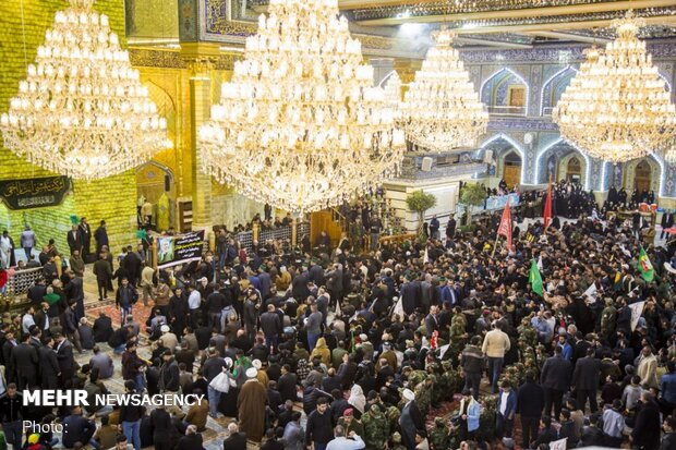 Funeral processions of martyred Iranian, Iraqi commanders in Karbala